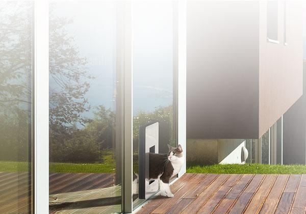 Komfort - Die erste isolierte, wärmegedämmte Hundetüre / Katzentüre die auch Passivhaus geeignet ist.