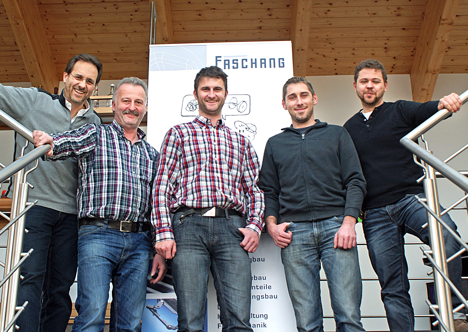 Das Mechanik-Team der FirmaFaschang.